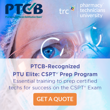 PTCB-Recognized PTU Elite: CSPT Prep Program. Essential training to prep certified techs for success on the CSPT Exam. Get a Quote.